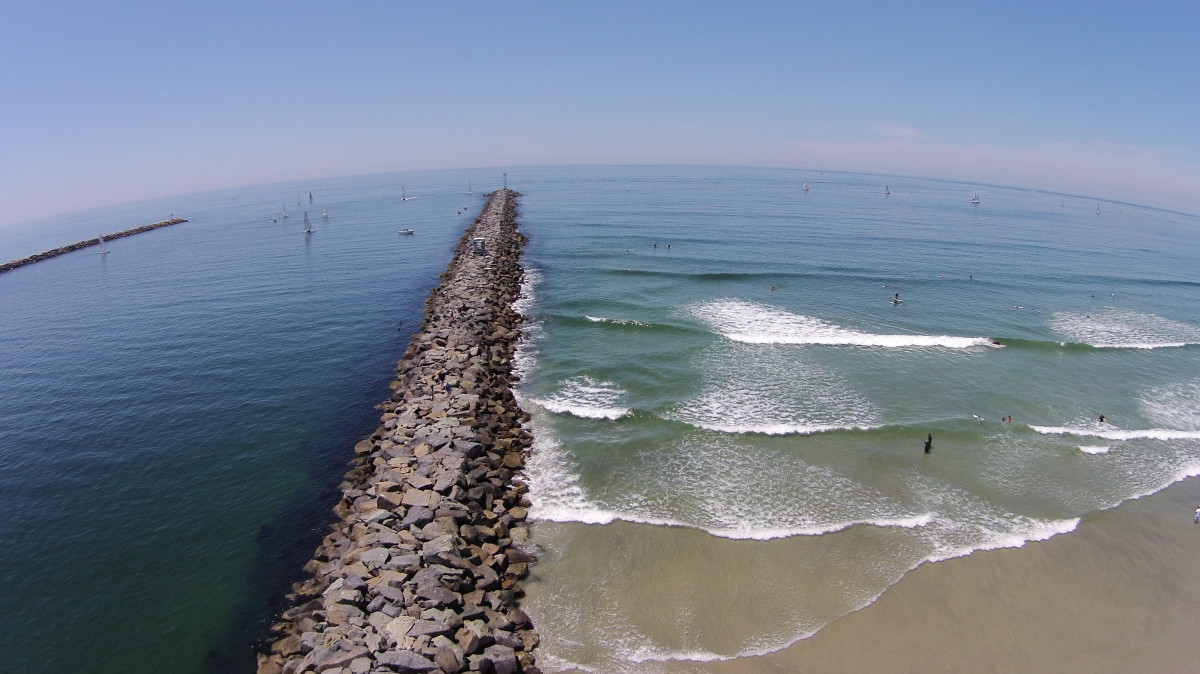 Mission Beach North Jetty Dronestagram