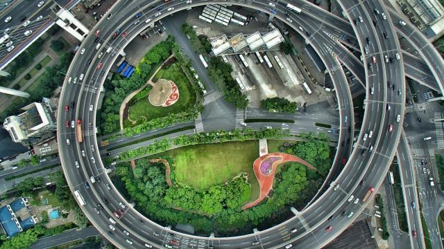 ShangHai NanPu Bridge approach