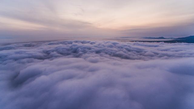 Cloud Sea of Muroran,Muroran,Hokkaido,JAPAN