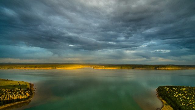 Angara river near lake Baikal, Russia