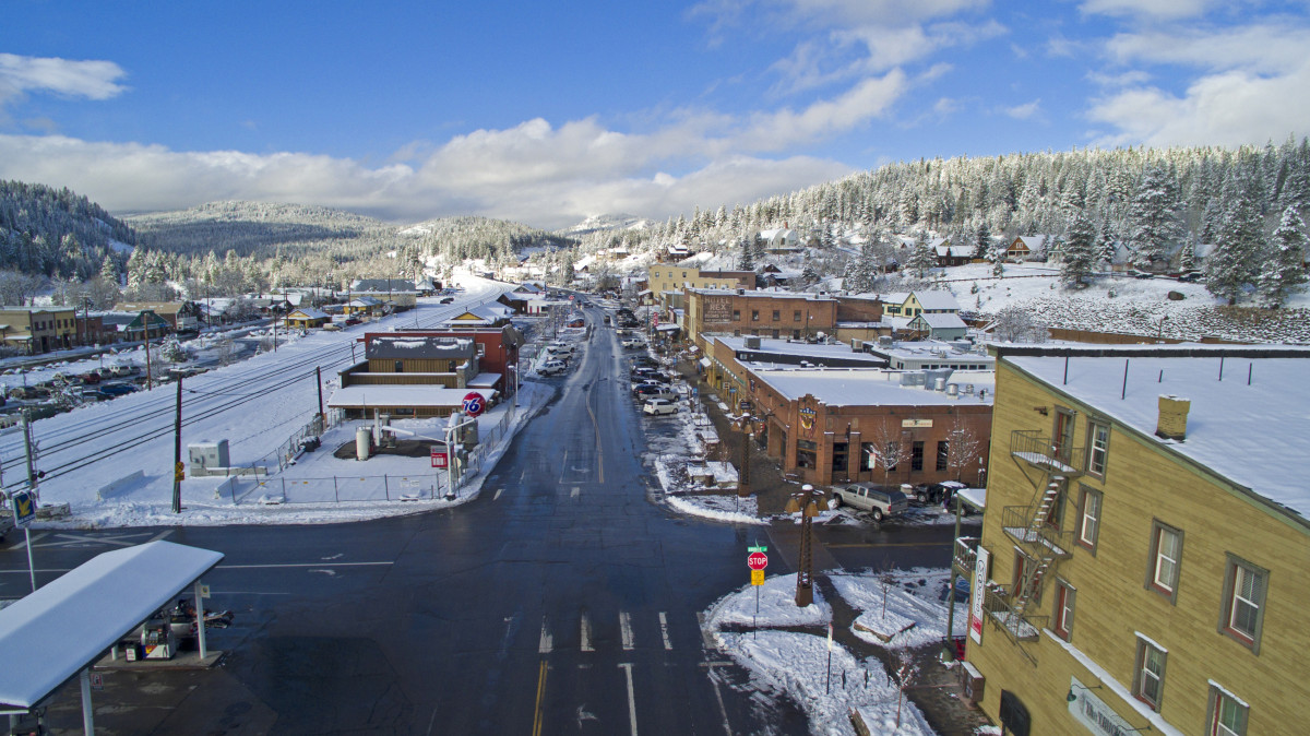 Down Town Truckee, Truckee, California, USA