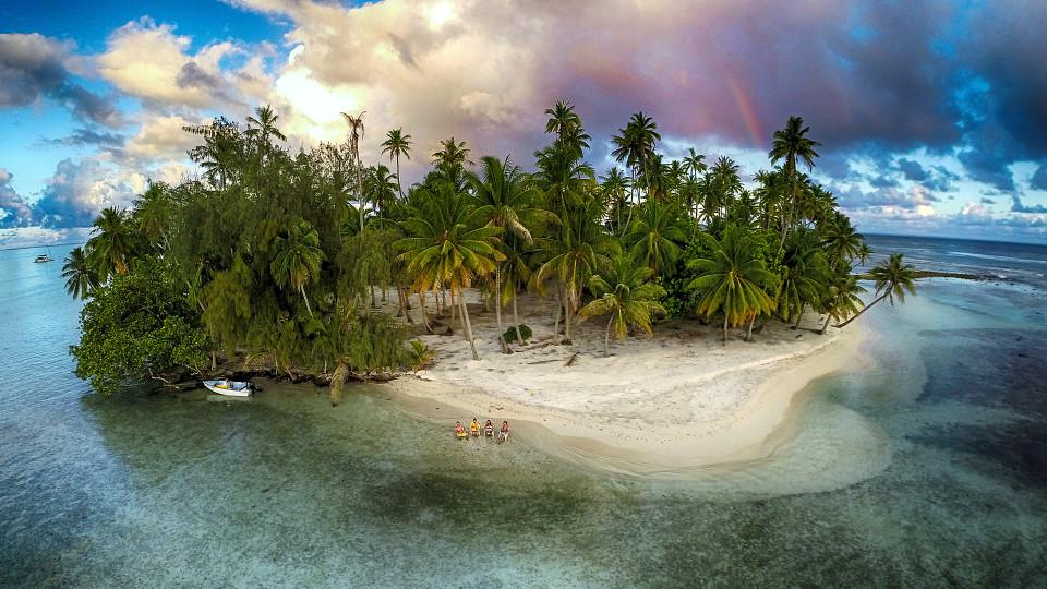Lost island, Tahaa, French Polynesia
