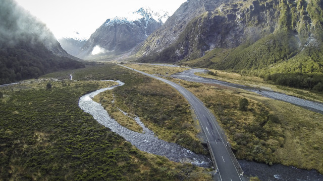 Milford Highway, Fiordland, New Zealand