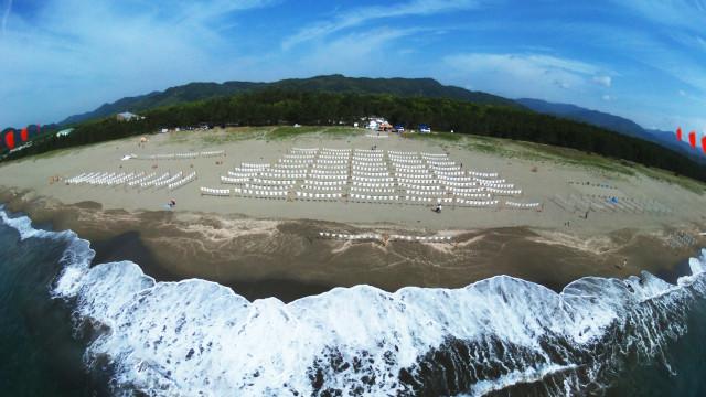 T-shirt Art at the Irino Beach, Kuroshio, Hata District, Kcohi Prefecture, Japan