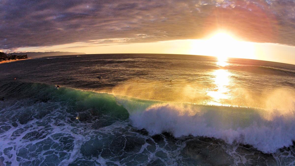 Sunset Beach, Haleiwa, Hawaii, USA