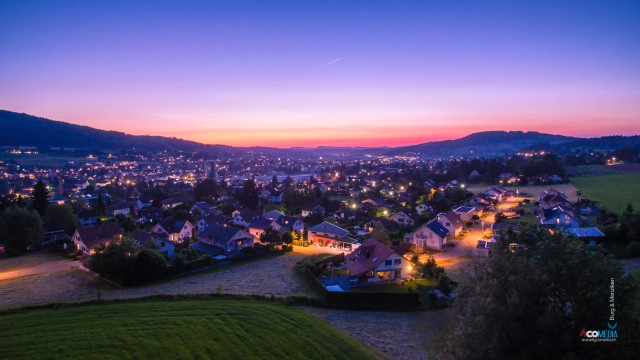Sunset over Burg & Menziken