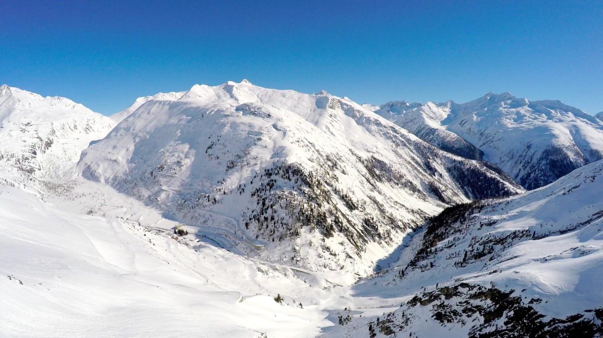 Gletsh and Furkapass, Gletsch, Obergoms, Wallis, Switzerland