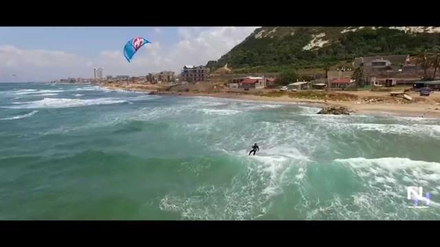 kitesurfing at Haifa, Israel
