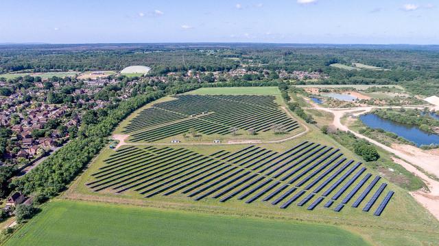 Marchwood Solar Farm, Hampshire. UK