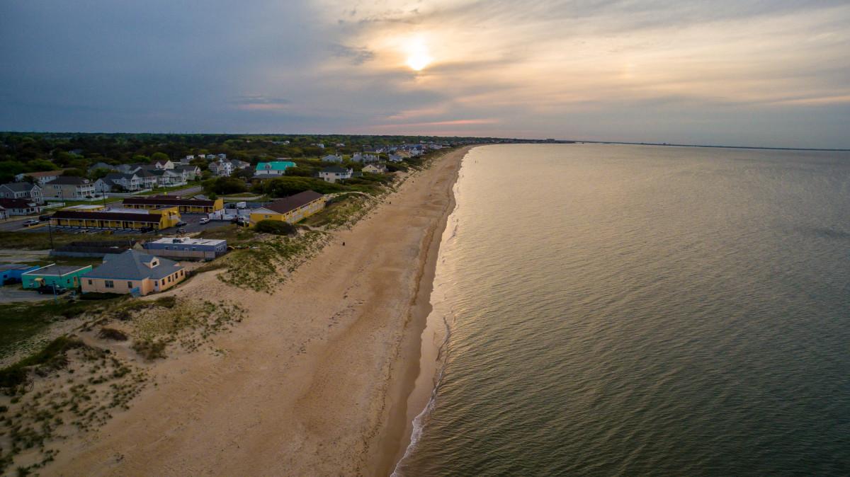 East Ocean View Beach Sunset