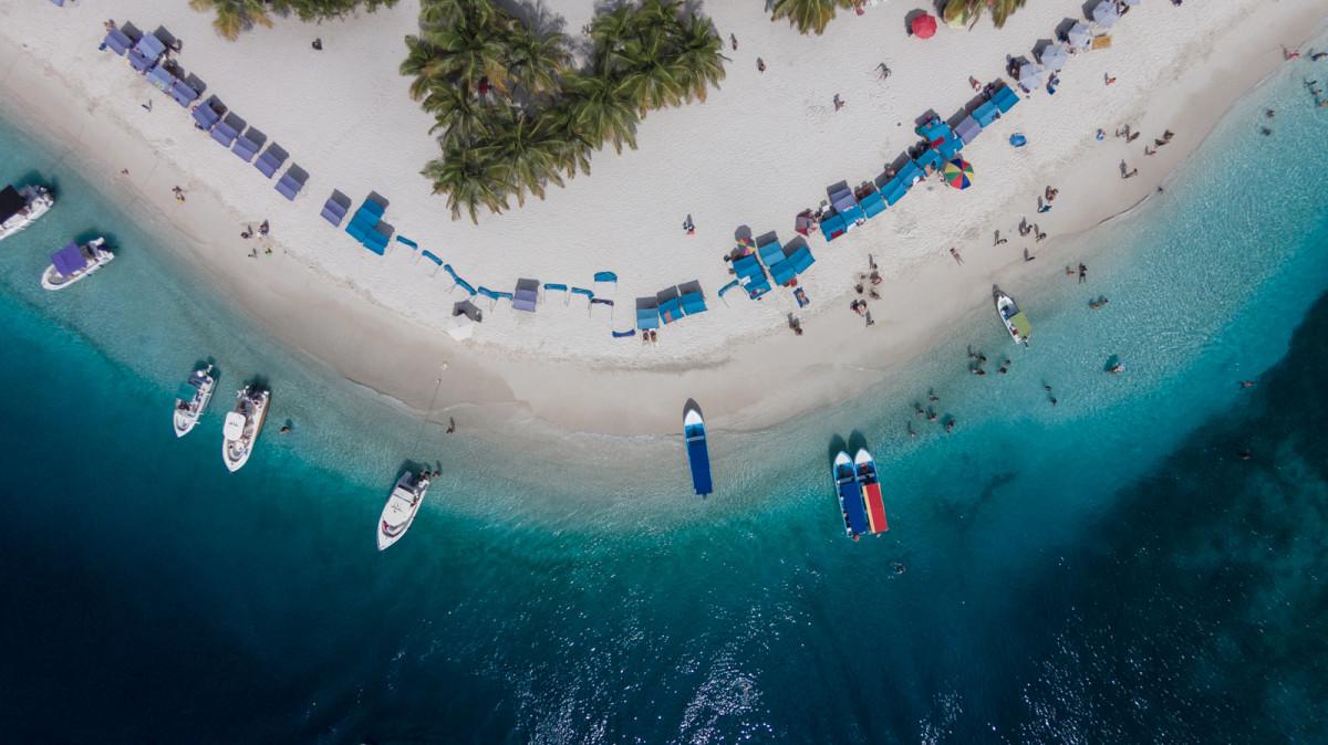 Caribbean coast of Venezuela. Small islands