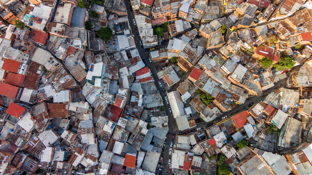 Favelas of Petare neighborhood. Caracas, Venezuela.