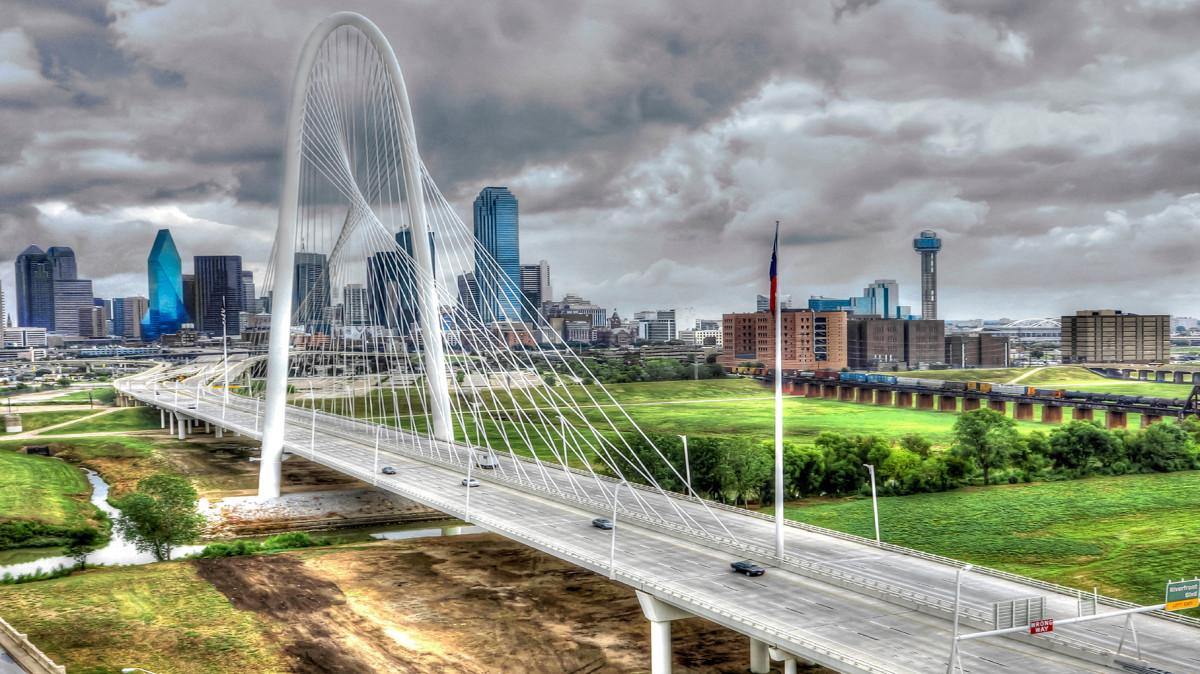 Bridge City (TX) United States  city photos gallery : Margaret Hunt Hill Bridge, Dallas, TX | Dronestagram