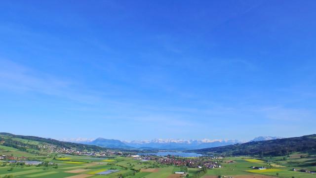Baldeggersee /Alpen
