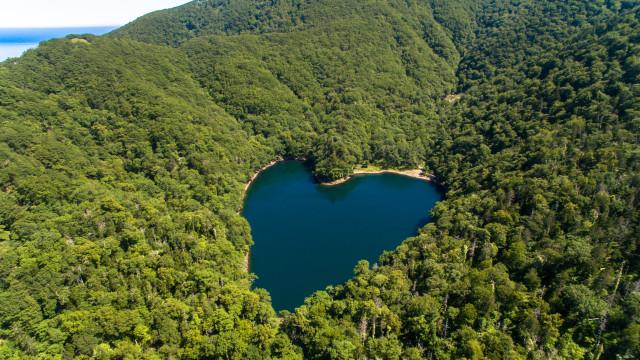 Lake Toyoni,Erimo,Hokkaido,Japan