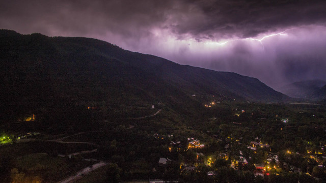 Lightning above Aspen Colorado