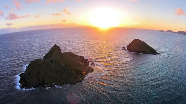Mokulua Islands, Kailua, Oahu, Hawaii, USA