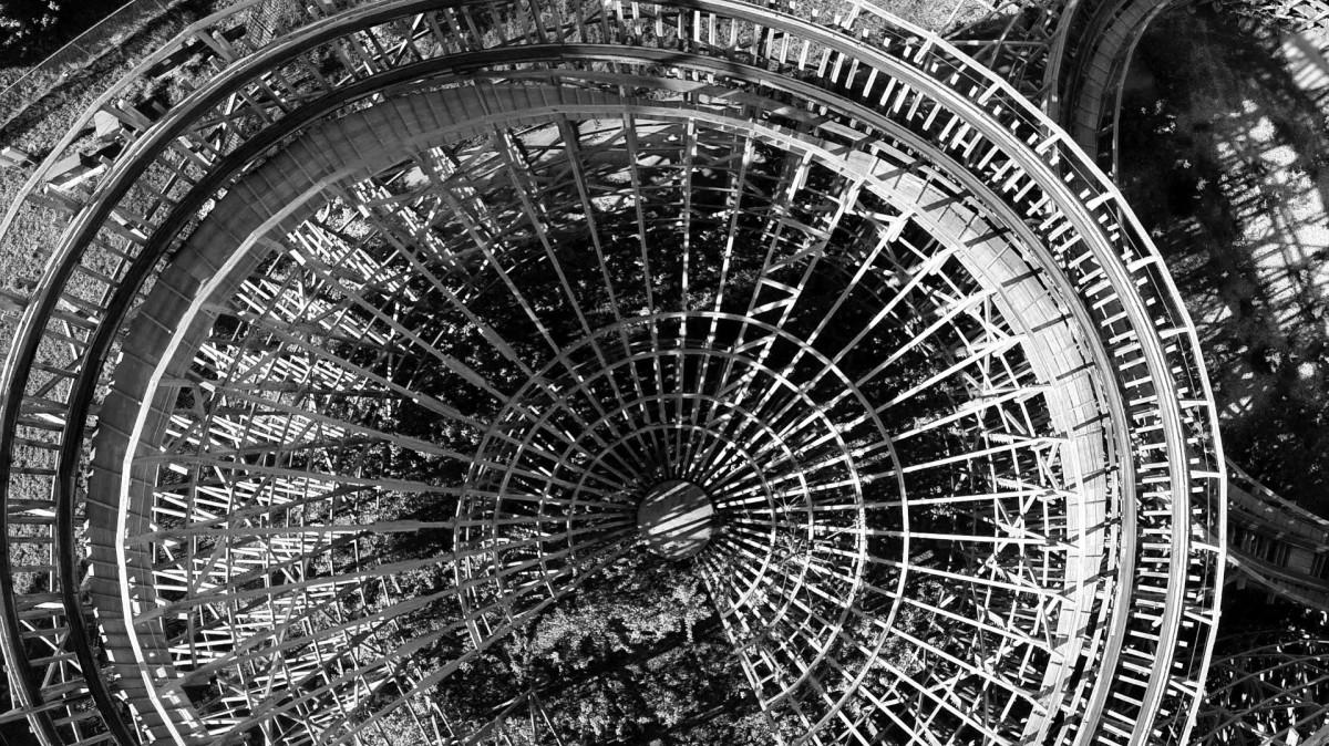 Abandoned Theme Park Wooden Roller Coaster Branson Mo Dronestagram