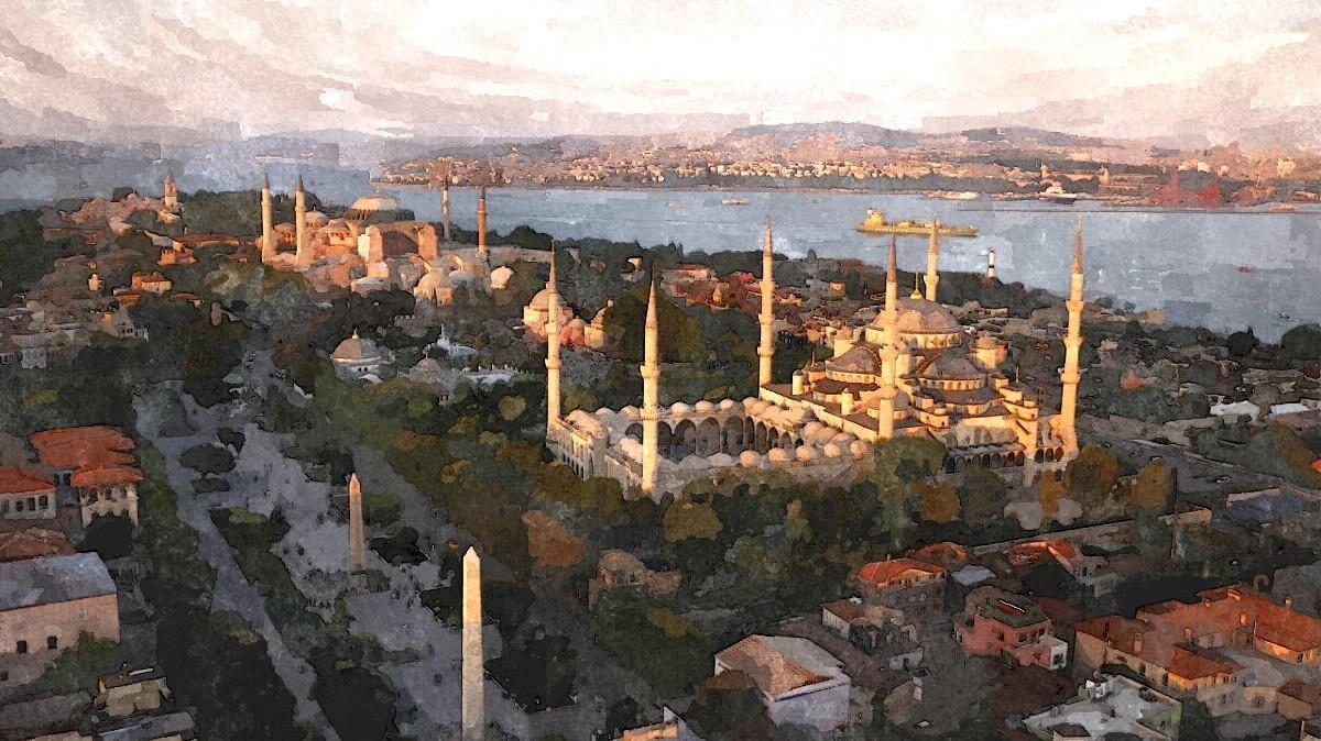 Sultanahmet, The Blue Mosque, Hagia Sophia, Istanbul ...