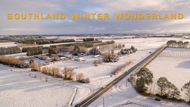 New Zealand – Southland – Winter arrived for one day