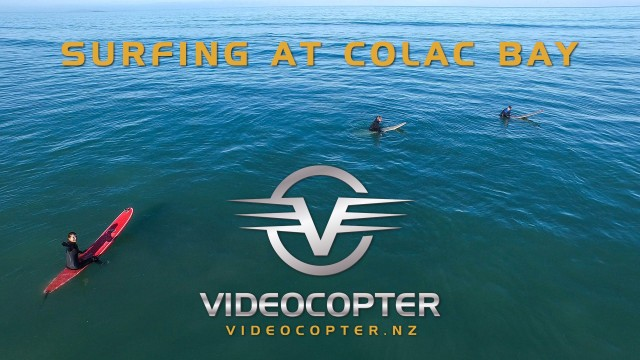 Surfing at Colac Bay Southland New Zealand – A view from the drone