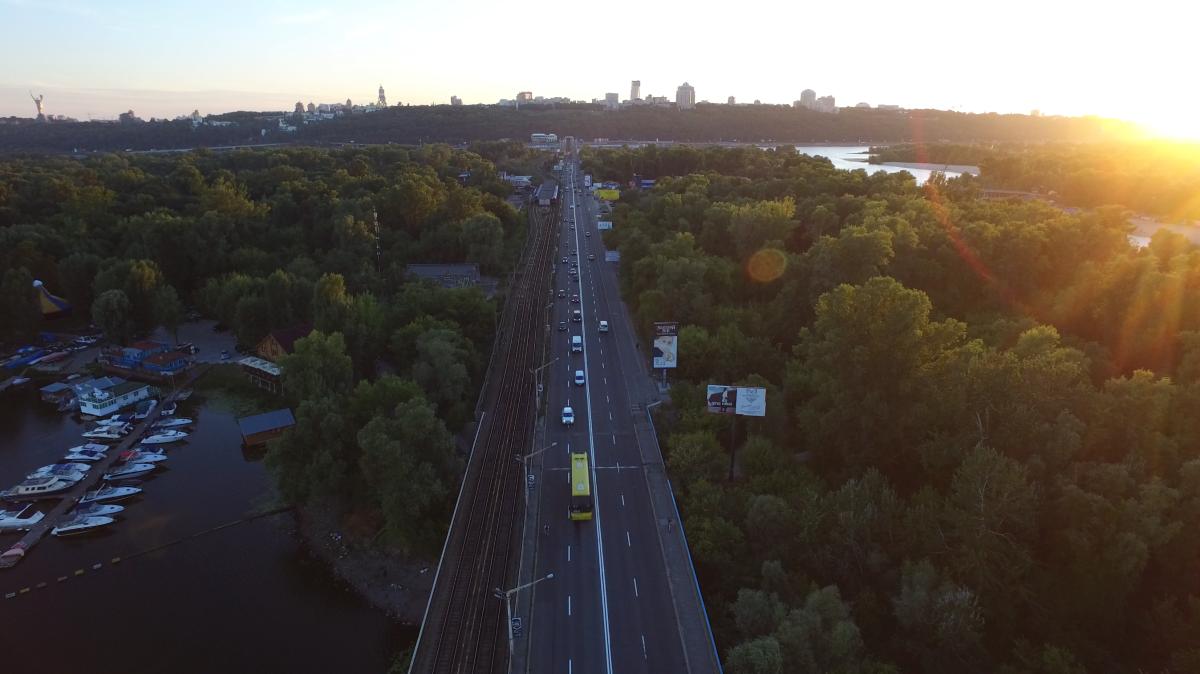 Metro bridge, Kiev, Ukraine