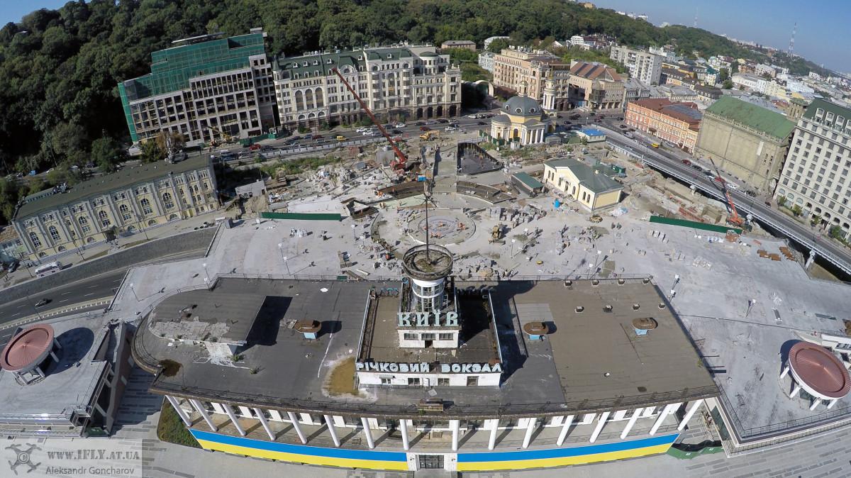 Riverport in Kiev. Pochtova Square, Kiev, Ukraine