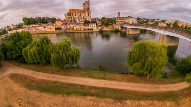 Collégiale de Mantes La  jolie, Mantes la jolie, Yvelines, France