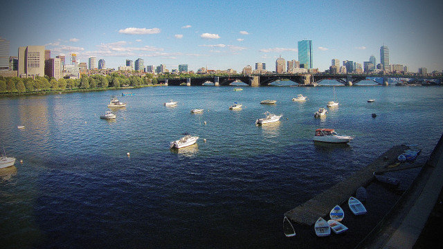 Charles River, Longfellow Bridge, Boston, Massachussetts