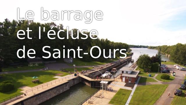 Barrage et écluse de Saint-Ours, Qc, Canada