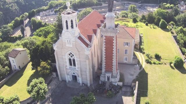 Drone et Notre Dame de Pipet – Vienne – France
