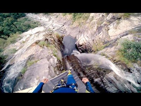 Maggia dronestagram - Highest cliff dive ever ...