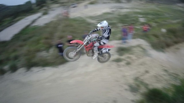 Drone and Motocross in Crete