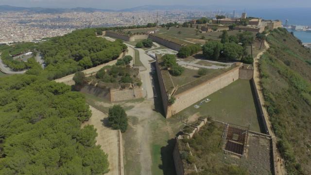 castillo montjuic, barcelona, spain
