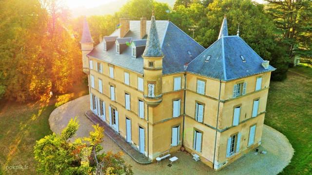 Chateau, Grenoble, photo par drone