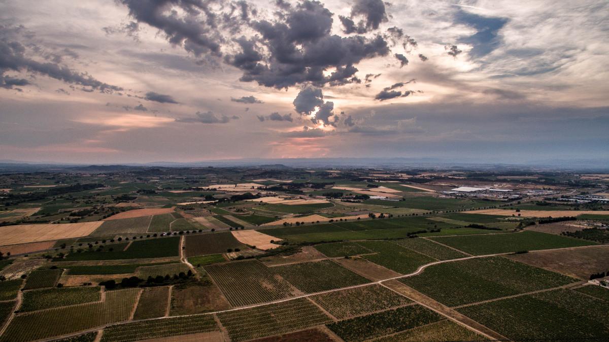 Les plaines de l'Hérault, France