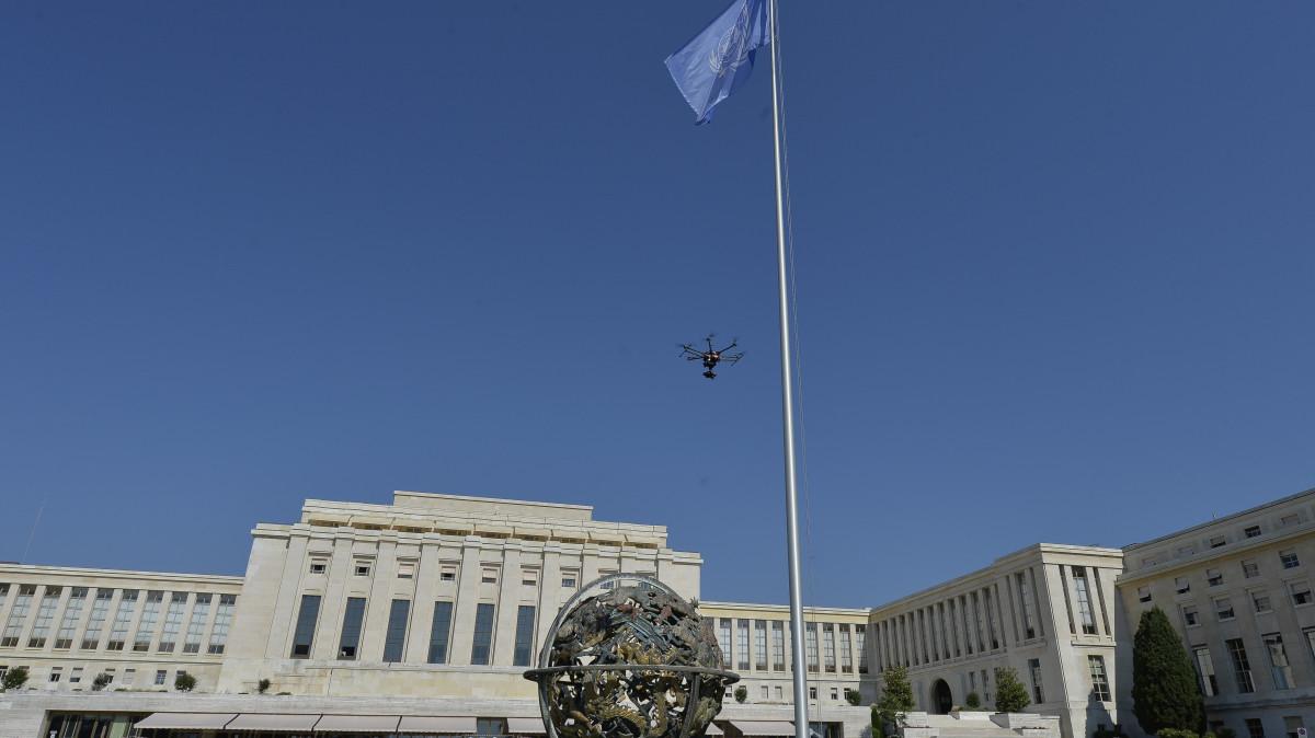 Drone en tournage au Palais des Nations Unies, Genève – Suisse