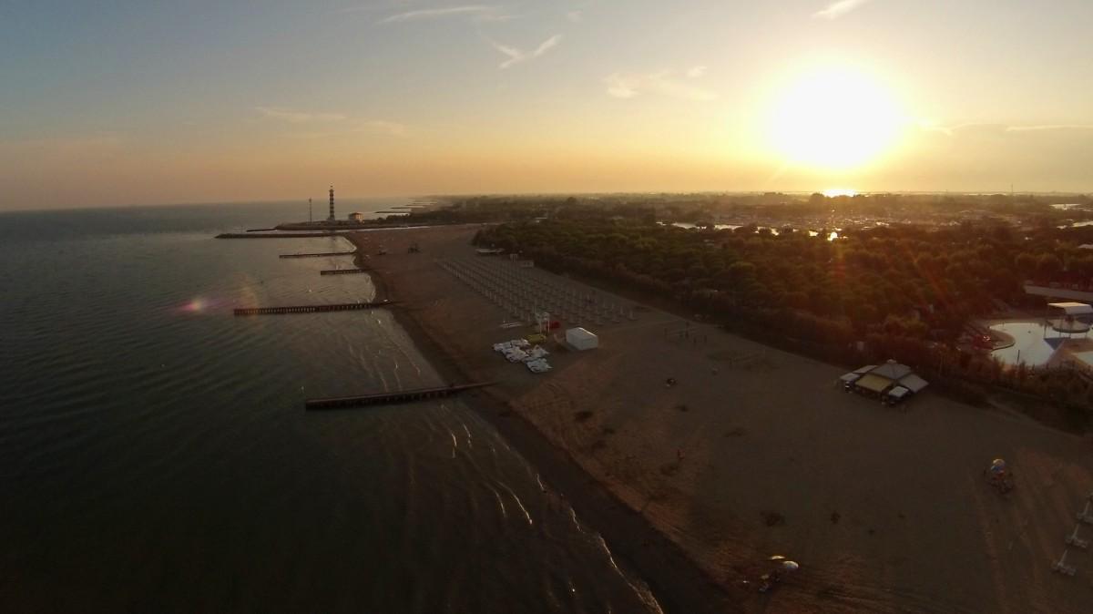 Spiaggia di Jesolo, vicino al faro