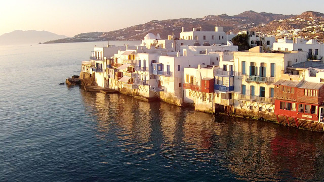 Mykonos, little Venice sunset