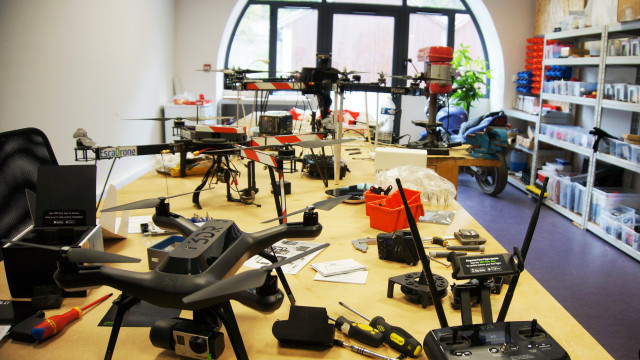 Atelier du Drone, Escadrone Grenoble, Isère, France