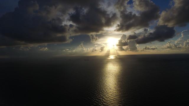 Sunrise over the Keys in Florida