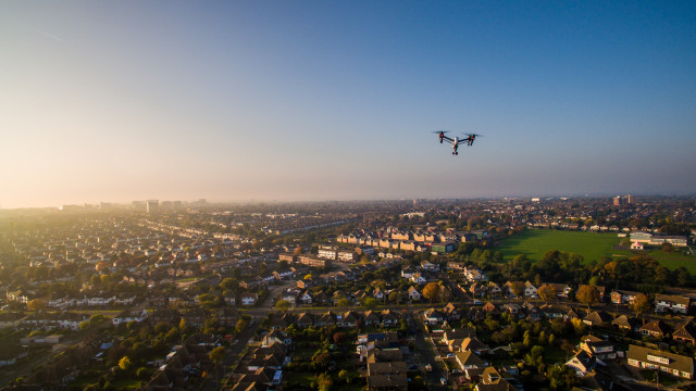 Flying with DJI Inspire 1, Thorpe Bay, Essex