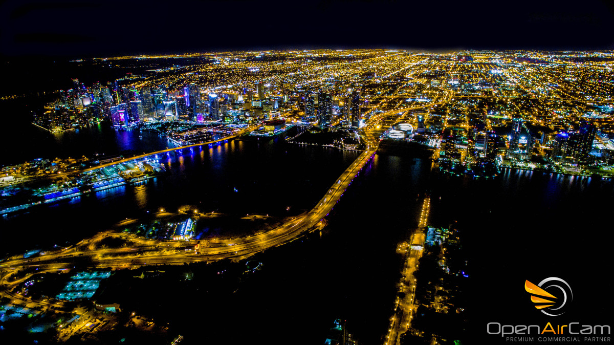 Miami at night, Florida