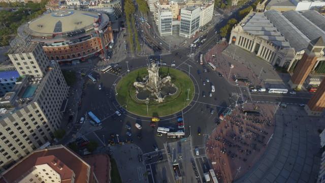 plaza de españa , barcelona spain