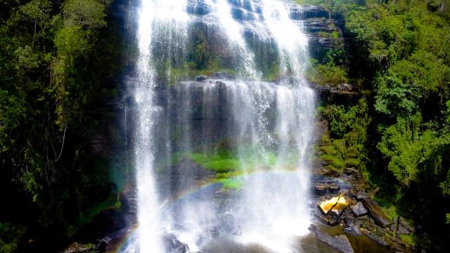 Waterfall Mariquinha, Ponta Grossa, Paraná, Brazil