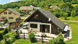 Prise de vue aerienne par drone, villa, Haute Savoie, France