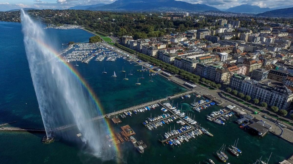 Jet d'eau de Genève, Suisse