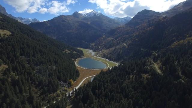 Station de Méribel hors saison, Savoie, France