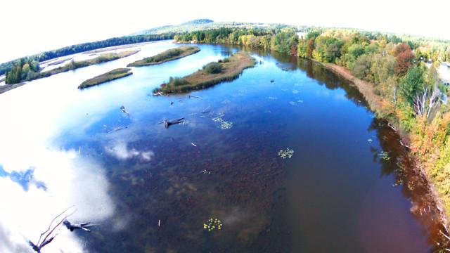 Lamoille River / Arrowhead Mountain Lake, Vermont.