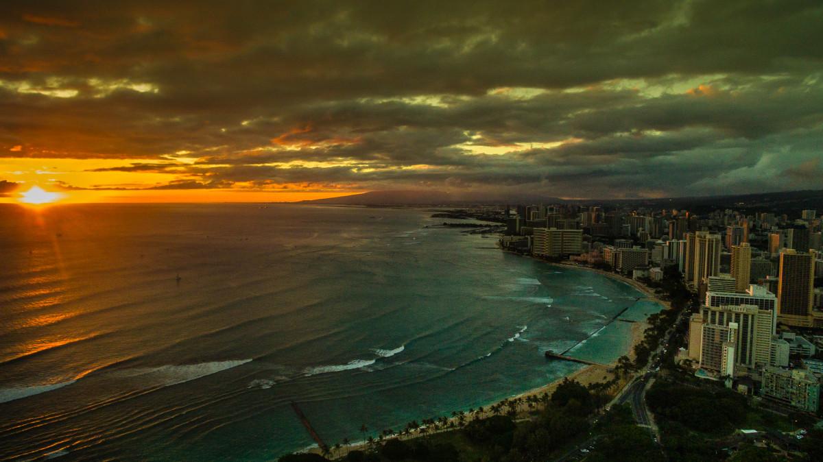 Waikiki Beach, Honlolulu, Hawaii, USA
